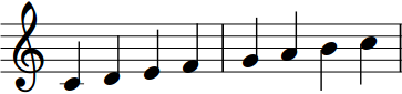 Musical Staff With C Major Scale